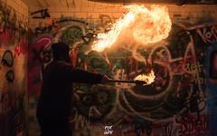 Fire Breathing (Jason Giroux) Tags: smoke fire breathing grenaed blue graffiti paraphin latern oil cool light