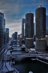 Marina City and the River (michael.veltman) Tags: chicago illinois marina city river looking west