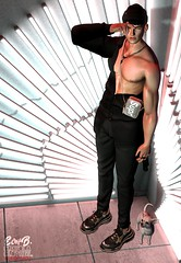 . EohB . #Modulus #GALVANIZED #Catwa #Straydog #Betrayal #SU #Breath #Semller #Gild (Crayolas Clothes) Tags: modulus catwa avatar belleza galvanized straydog breath betrayal su semller gild black shirt jeans bag hat lights neon neonlights gay guy dude man men male mate buddy sl slfashion fashionmen secondlife 2018 sexy asian