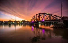 Sunset in my home town (urban67) Tags: sun sunset river bridge dusk sonya6000 sonyalpha landscape water wide nature samyang12mm indonesia sky red platinumheartaward