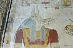 Temple of Seti I,  Second Hypostyle Hall Relief, Abydos (1).JPG (tobeytravels) Tags: egypt greattemple memorial chapels memnonium ramessesii hypostylehall osirisisisptah ptahsokar nefertem rehorakhty amun horus