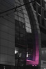 Ultra (Michael Xyrie) Tags: black white night urban city downtown modern infrastructure violet purple magenta selective color dark street lines