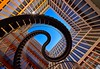 City Snake (Arx Zyanos) Tags: munich münchen stairs staircase endlessstairs treppen treppe patio sony ilce7rm3 sonya7riii sonya7r3 a7r3 voigtländer hyper wide heliar voigtländer10mmf56hyperwideheliar spring colors architektur modern architecture sculpture blue orange red