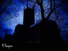 Something different (tomthompson5) Tags: night spooky wolverhampton blue church tomthompson