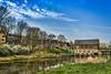 the Pumphouse (stevefge) Tags: nederland netherlands nijmegen nl nederlandvandaag reflectyourworld reflections canal water landscape city gelderland pumphouse ooipolder