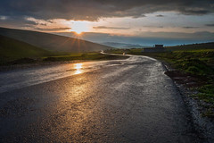 back in the way (samal photography) Tags: amazing nature landscape sunset sunlight highway rain weather spring