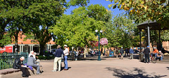 Just hangin'. Santa Fe, NM (M McBey) Tags: santafe newmexico plaza people trees meeting