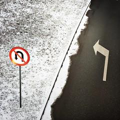 No U-turn (Jerzy Durczak) Tags: signs traffic snow street road