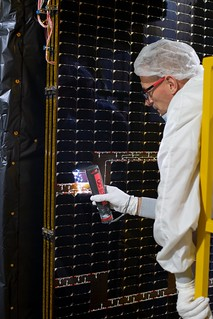 Final checks on the satellite
