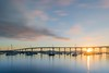 Sun Span (salinasattar9) Tags: ocean bay bridges clouds coronado coronadobridge longexposure morning sunrise tidelandspark