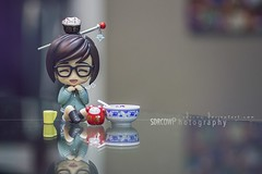 Noodle Break (sdrcow) Tags: nendoroid disney blizzard overwatch cute snow noodle nendo anime miniature diorama still life toys toy photography cleaning