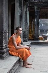 Angkor Wat Monk - Siem Reap-2 (yarns101) Tags: siemreap cambodia portrait temple ancient monk angkorwat
