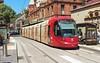 Sydney Light Rail - LRV2112 arrives at Capitol Square (john cowper) Tags: sydneylightrail lrv2112 haystreet georgestreet haymarket capitolsquare l1 transportfornsw caf urbos3 sydney newsouthwales