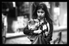 It's in the bag .... somewhere (Frank Fullard) Tags: frankfullard fullard candid street portrait bag handbag seaech lost somewhere lol fun confused expression monochrome blackandwhite blanc noir face lady