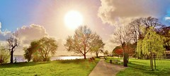 Spring Illusions (farmspeedracer) Tags: april spring color sky river scenery park 2017 landscape light sun reflection ray