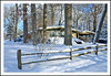 A Winter Wonderland For Your Fence Friday (sjb4photos) Tags: michigan annarbor washtenawcounty snow winter fence fencefriday hff