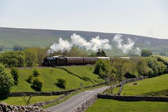 48151: Dalesman Day Out (Gerald Nicholl) Tags: 8f stanier lms 280 46151 wcrc sc settle carlisle horton steam engine loco locomotive train dalesman yorkshire excursion