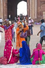 Color world (Tim Brown's Pictures) Tags: india uttarpradesh fatehpursikri palace tomb akbar akbarthegreat moghulempire visitors tourism historic architecture buildings color mughal jamamasjid fridaymosque up worldheritagesite unesco