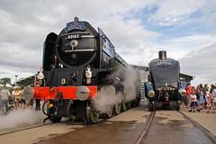 SHILDON 230610 60163 & 4468 (SIMON A W BEESTON) Tags: nrm shildon lner a1 60163 tornado locomotive sky train people a4 4446 mallard