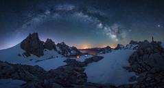 Cabaña Veronica (Pablo RG) Tags: picos de europa via lactea milkyway montaña mountains nikon cantabria star estrellas