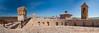 Urbisaglia - La rocca 01_8057-8060 (Promix The One) Tags: urbisagliamc marche rocca antichitã medioevale mura mattoni campanile torrediguardia panorama cielo nuvole feritoie storia fotopanoramica 4fotografie canoneos1dsmarkii canonef1635f4lisusm antichità