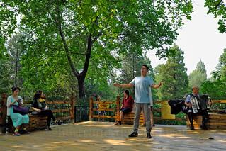Chanteur sur la colline du charbon, Pékin
