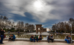 Templo de Debod (Lucien Schilling) Tags: abu gyptian palace madrid royal high aswan temples water architecture debod comunidaddemadrid ancient oeste 1968 clouds dam del buildin donated spain tree amun cloud es state sky simbel god parque temple templo egyptian egypt