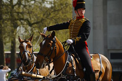 The Queen's 2018 Birthday gun salute - 12 (D.Ski) Tags: 2018 queens queen birthday gun salute royal park horse horses april westminster london nikon 2470mm 200500mm thekingstrooprha thekingstroop parade thequeen wellingtonarch hyde cornerhyde parkd700nikon d700
