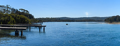 Exploring the waterways (Merrillie) Tags: landscape southcoast panorama newsouthwales sea mossypoint nsw blue scenery wharf river panoramic scenic australia outdoors waterscape jetty wharves water tomagariver