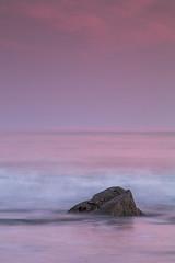 Pink when I turn out the light (Ron Giesbers) Tags: pink rocks sunset seascape sky sea strand atlantic wildatlantic westcork wet water cork dutch 3stopsoftgrad leefilters light longexposure waves