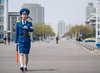 The traffic ladies of Pyongyang (TeunJanssen) Tags: pyongyang northkorea korea dprk traffic trafficladie ladie security officer travel worldtravel ypt youngpioneertours traveling backpacking street dof 75mm olympus omd omdem10