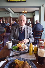 DSC_7208 Lunch at the Wetherspoon Blue Bell English Pub Scunthorpe Lincs with Geoff Spafford Eating Delicious Gammon and Egg with Tomato Mushroom Fries and Green Peas (photographer695) Tags: lunch wetherspoon blue bell english pub scunthorpe lincs geoff spafford with eating delicious gammon egg tomato mushroom fries green peas