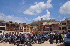 Bikies to the right... (koukat) Tags: peñafiel plaza coso square dusty castillo castle bullring toro