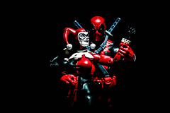 Tango in Red (jokerjester_campos) Tags: deadpool harley quinn harleyquinn marvellegends marvel legends dcicons dc icons mad love joker madlove toy toyphotography photography