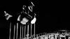 Obscure View (aushiker) Tags: australia cottesloe cottesloebeach perth public sculpture scultpure scultpurebythesea2018 street westernaustralia art bw beach blackwhite blackandwhite monochrome ocean outdoor sand water