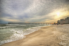 Inheritance (donna.chiofolo (on and off)) Tags: nature beach water sand bridge sky clouds composition light mood atmosphere poetry nikon navarre florida beachlife hope inheritance movement easter