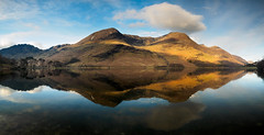 Buttermere panoramic reflection (Alf Branch) Tags: buttermere haystacks highcrag highstile redpike fells mountains morning refelections reflection westcumbria water calmwater landscape lakes lakedistrict lake lakesdistrict alfbranch olympus omd olympusomdem5mkii zuiko zuiko918mmf456ed panorama panasonic panoramicstitch