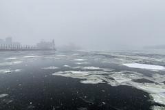 La tour de l'Horloge (Paul Leb) Tags: montréal québec canada neige nieve snow tempête storm stlawrenceriver fleuvesaintlaurent glace ice