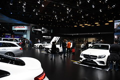 Many White Mercedes Benz -- 2018 North American International Auto Show (Corvair Owner) Tags: north american international auto show detroit michigan mi mich new car display automobile truck suv crossover manufacturer january 2018 cobo arena hall center winter mercedes benz