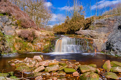 Rivington Waterfall 21 (alan.dphotos) Tags: water waterfalls watercourse waterway rock white trees moss alge nature river stream brook rivington horwich lancashire visitlancashire