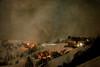Night on the mountains (vittorio.chiampan) Tags: mountain night winter snow fineart art landscape lights village