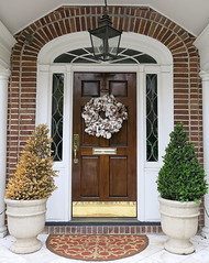 A cotton boll Easter wreath, East Bay Street, Charleston, SC (Spencer Means) Tags: architecture decoration door doorway wreath easter cotton boll portico entrance brick window eastbay street broad south below charleston sc southcarolina dwwg