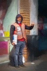Big Issue Seller (RCARCARCA) Tags: bigissue seller stalbans happy joy street successstory greeting 5diii smile canon photoartistry 2470l thumbsup