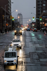 Bloor at dusk near Symington (jer1961) Tags: toronto bloorstreet dusk rain roadpatches