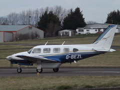 G-BEZL Piper Navajo 31 2 Excel Aviation Ltd (Aircaft @ Gloucestershire Airport By James) Tags: gloucestershire airport gbezl piper navajo 312 excel aviation ltd egbj james lloyds