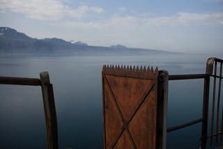 the gate to the Lake Geneva