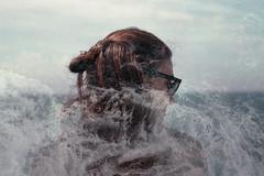 (Federico Raviele) Tags: multiple exposure kodak gold 200 double analog film camera 35mm sea girl
