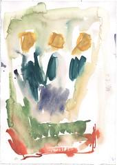 Crowns (janinaroider) Tags: 2014 artist contemporaryart crowns green janinaroider malerei painting series watercolours