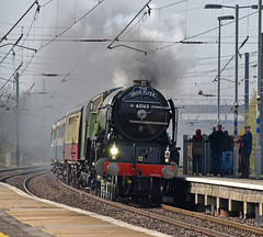 The Ebor Flyer (simmonsphotography) Tags: railway railroad train biggleswade station uk 60163 tornado steam locomotive engine peppercorn a1 railtour heritage excursion uksteam lner br pacific