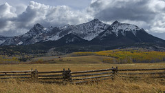 The supernatural is the natural not yet understood… (ferpectshotz) Tags: ridgway colorado fallfoliage fallcolors autumn mountains mountainpeaks rustic rural fence